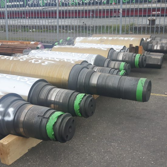 Discarded mill rolls forged